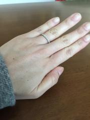 【ティファニー(Tiffany & Co.)の口コミ】 一つは結婚指輪との重ね付けでも使えるもの。なかなか普段お目見えする事の…