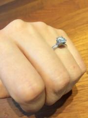 【Fred(フレッド)の口コミ】 リング部分が細身でパヴェデザインの指輪を探していました。FREDは高級…