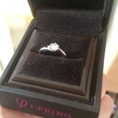 【アイプリモ(I-PRIMO)の口コミ】 婚約指輪はあらかじめ予算を決めていましたので、その予算内で見合うブラン…