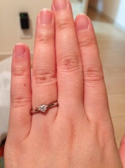 【COEUR D'OR(クゥドール)金沢 by BIJOUPIKOの口コミ】 2年付き合った彼女にプロポーズを考えており、シンプルで一目で婚約指輪だ…