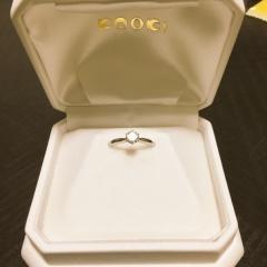 【カオキ ダイヤモンド専門卸直営店の口コミ】 0.5キャラットの大きなダイヤのついた婚約指輪を0.3キャラットの価格で購…