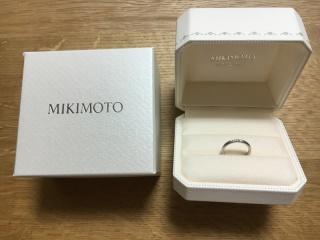 【MIKIMOTO(ミキモト)の口コミ】 価格・ブランド・普段使いできる指輪であること。この3つが決め手となって…