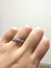 【ショーメ(CHAUMET)の口コミ】 結婚指輪自体はこだわりはなかったのですが、シンプルで細身のものを希望し…