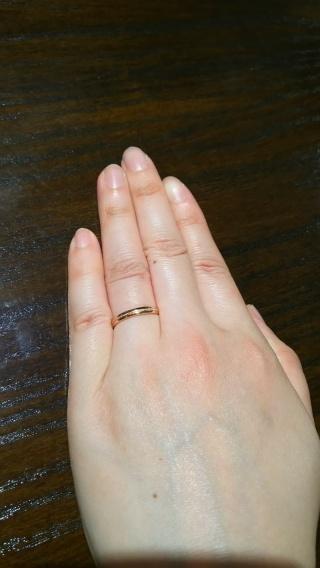 【TANZO(タンゾウ)の口コミ】 鍛造という製法の強い指輪で、セミオーダーでデザインも比較的自由にお願い…