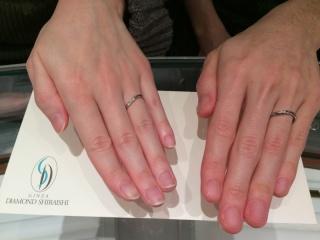 【銀座ダイヤモンドシライシの口コミ】 お互いの指に合っているデザインであると店員さんからアドバイスを受けた…
