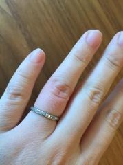 【ティファニー(Tiffany & Co.)の口コミ】 最初はダイヤがついていないデザインのものを探していたのですが、この指輪…
