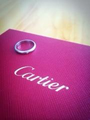 【カルティエ(Cartier)の口コミ】 サプライズに主人が用意してくれていたのですが私は二人で選ぶつもりで楽…