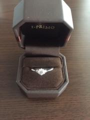 【アイプリモ(I-PRIMO)の口コミ】 今の主人がプロポーズで贈ってくれたものです。 一緒に店頭で購入していな…
