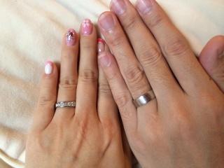 【Ginza Rim(銀座リム)の口コミ】 希望に合う指輪がなかなか見つからなかったため、ベースの指輪を選んで細か…