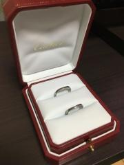 【カルティエ(Cartier)の口コミ】 婚約指輪にカルティエのバレリーナをいただいていたので、ほぼ即決で同じ…
