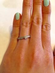【ティファニー(Tiffany & Co.)の口コミ】 子供のころから憧れがあり、婚約指輪はティファニーがいいな、と夢を見てい…