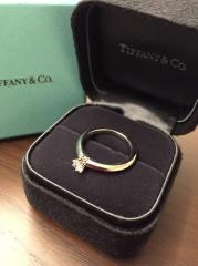 【ティファニー(Tiffany & Co.)の口コミ】 デザインが好みだったこと(シルエットがきれいでした)と石の大きさがちょ…
