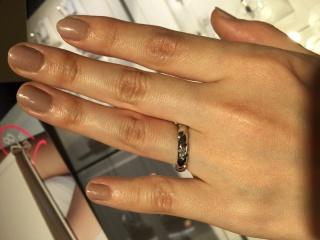 【ショーメ(CHAUMET)の口コミ】 デザイン性のある指輪を選びたかったので、いろいろなブランドをみて回り…