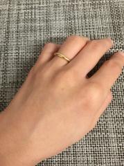 【カルティエ(Cartier)の口コミ】 ずっとつけている結婚指輪なのでシンプルでプレーンなものを選びました。他…