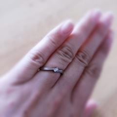 【アイプリモ(I-PRIMO)の口コミ】 婚約指輪をもらっていないので、婚約指輪と結婚指輪の中間のようなデザイン…