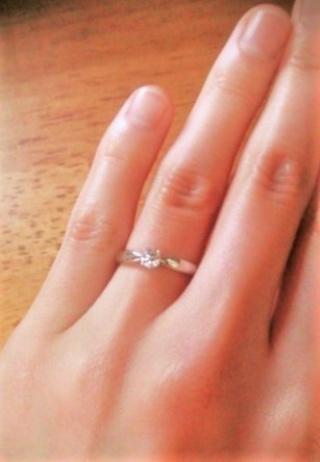 【ティファニー(Tiffany & Co.)の口コミ】 結婚当時婚約指輪はいらないといっていたのですが、夫が結婚3年と誕生日の…