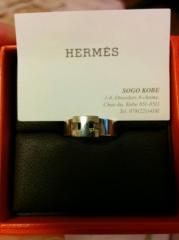 【エルメス(HERMES)の口コミ】 もともとエルメスが好きで、エルメスの指輪が欲しいなと思っていました。…
