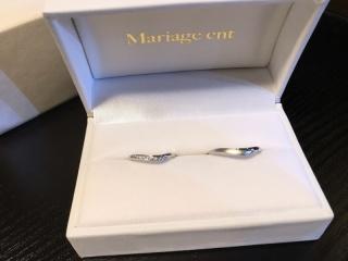 【Mariage ent(マリアージュエント)の口コミ】 私は指が太く短いことがコンプレックスで、V字やS字ラインの指輪を検討し…