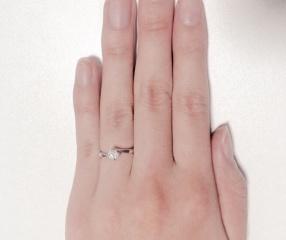 【アイプリモ(I-PRIMO)の口コミ】  ダイヤにとても透明感があったのが印象的でした。つけてみると、とても細…