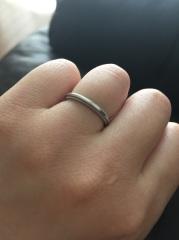 【ティファニー(Tiffany & Co.)の口コミ】 いただいた婚約指輪がTiffanyだったので、同じブランドで購入しまし…