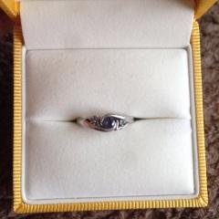 【ケイウノ ブライダル(K.UNO BRIDAL)の口コミ】 フルオーダーだったため、世界にひとつのオリジナル指輪を作ることができ…