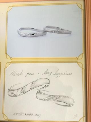 【JEWELRY  KAMATA(ジュエリーかまた)の口コミ】 他店で既存の指輪をみたがしっくりくるのがなく、フルオーダーならどうだろ…