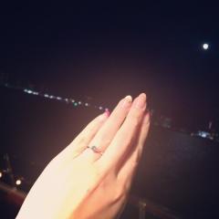 【俄(にわか)の口コミ】 白鈴という種類の指輪で、「ふたりがいつも寄り添い幸せであるように」と…