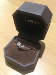 【アイプリモ(I-PRIMO)の口コミ】 4つあるメレダイヤを部分的にピンクダイヤに変えることができ、オリジナリ…