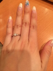 【ラザール ダイヤモンド(LAZARE DIAMOND)の口コミ】 最初は、エタニティリングのような、ダイヤが多いものを選んでいたのですが…