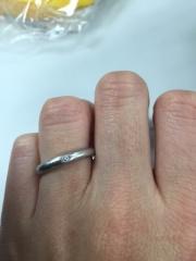 【ティファニー(Tiffany & Co.)の口コミ】 ティファニーしか考えていませんでした。 ダイヤが入っているのとプラチナ…