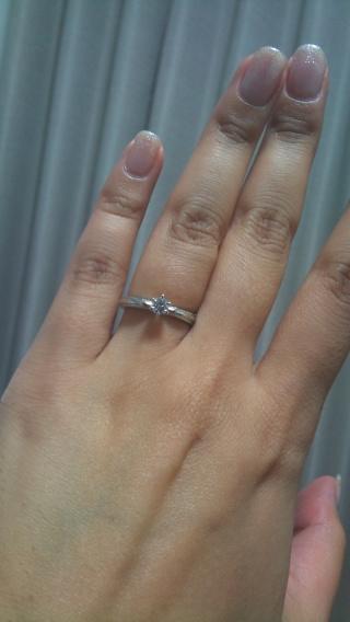 【ケイウノ ブライダル(K.UNO BRIDAL)の口コミ】 母の婚約指輪をリフォームしていただいたのですが、アドバイザーの方とデ…