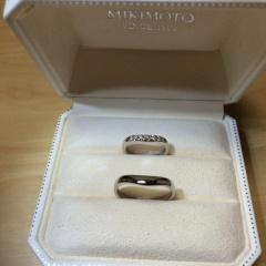 【MIKIMOTO(ミキモト)の口コミ】 結婚指輪は長くつけたいので、飽きの来ないものを選びたいということと、…
