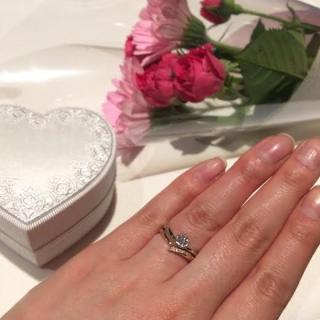 【GSTVの口コミ】 0.3カラットのダイヤに寄り添うピンクダイヤに惹かれて決定しました。D…