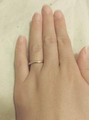 【agete(アガット)の口コミ】 婚約指輪をアガットのものをプレゼントしていただいたので、結婚指輪もア…
