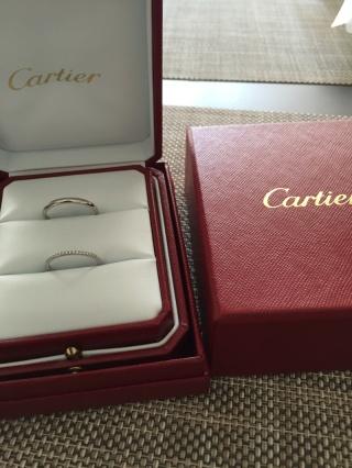 【カルティエ(Cartier)の口コミ】 30代半ばなので、あまりごちゃごちゃしたデザインは考えていませんでした…