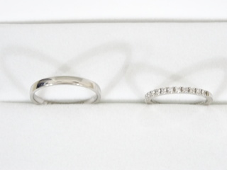 【ギンザタナカブライダル(GINZA TANAKA BRIDAL)の口コミ】 私用にはダイヤの入った結婚指輪が欲しくて探していました。主人にはシン…