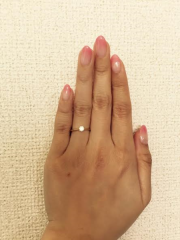 【銀座ダイヤモンドシライシの口コミ】 もともとシンプルで嫌みがないものを探していました。 0.267カラット…