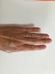 【カルティエ(Cartier)の口コミ】 シルバーの指輪が多い中、この指輪を決めたのは、指輪の色が肌なじみがよく…