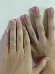 【THE KISS(ザ・キッス)の口コミ】 急遽結婚することになり、形だけでもとりあえず指輪を用意しようと探してい…