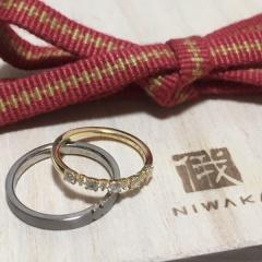 【俄(にわか)の口コミ】 婚約指輪は購入しなかったので、結婚指輪は絶対石つき!と決めていました。…