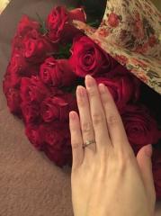 【カルティエ(Cartier)の口コミ】 ギラギラしたものはあまりタイプではないので、シンプルだけどやっぱり婚約…