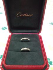 【カルティエ(Cartier)の口コミ】 先に婚約指輪をこちらで購入しており、非常に気に入っていたので、結婚指…