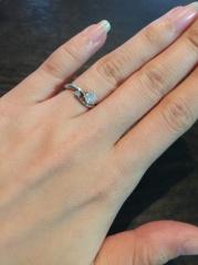 【アイプリモ(I-PRIMO)の口コミ】 ダイヤモンドのみ彼が先に購入していてくれてプロポーズの際はレプリカの婚…