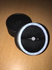 【Princess Bijou(プリンセス・ビジュー)の口コミ】 特別な感じがしたので、ダイヤのカットがハートに見えるように加工された…