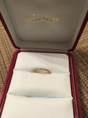 【カルティエ(Cartier)の口コミ】 婚約指輪を買ってもらえると思っていなかったので、とにかく使いやすいもの…