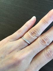 【4℃(ヨンドシー)の口コミ】 付き合っている時から4°Cのペアリングをしており、結婚指輪も4°C…