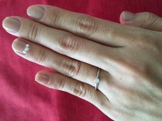 【ヴァンドーム青山(Vendome Aoyama)の口コミ】 シンプルな立て爪のダイヤモンドのマリッジリングに憧れておりました。さ…