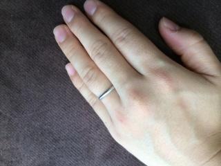 【カルティエ(Cartier)の口コミ】 もともとアクセサリーはカルティエが好きで、結婚指輪は毎日つけるものなの…
