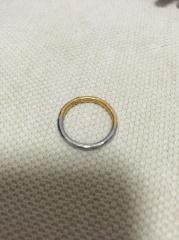 【MALCOLM BETTS(マルコムベッツ)の口コミ】 イギリスのブランドです。 プラチナとゴールドの異素材の金属を1つの指輪…