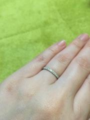 【ティファニー(Tiffany & Co.)の口コミ】 Tiffany NOVOのフルエタニティを結婚指輪として買ってもらうの…